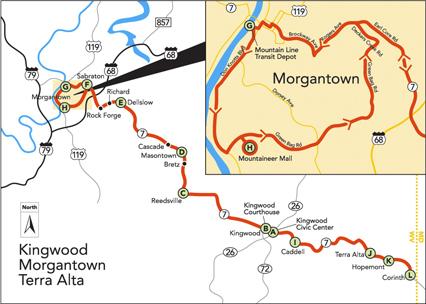 Buckwheat Express Route Map 1